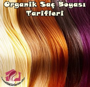 organik saç boyası tarifleri