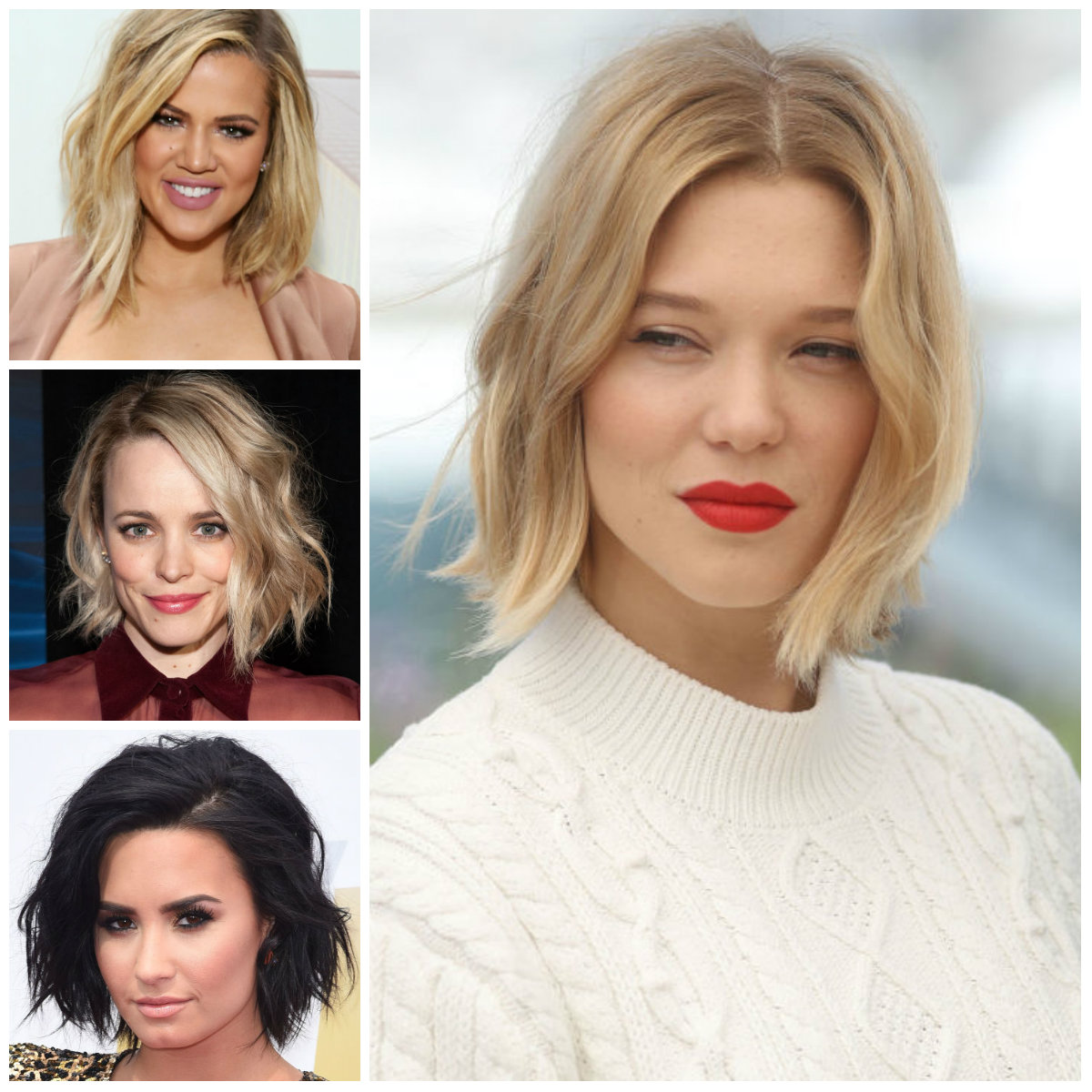 Dalgalı saç kesim modelleri bayan