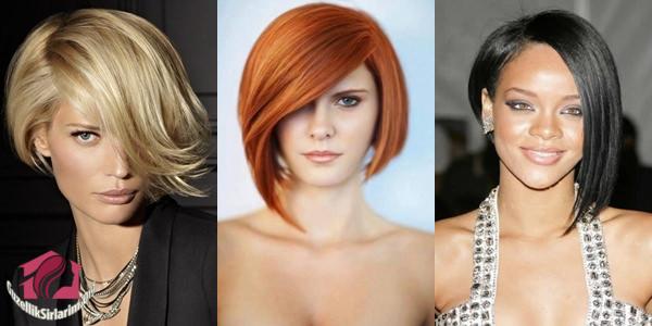 asimetrik saç kesim modeli