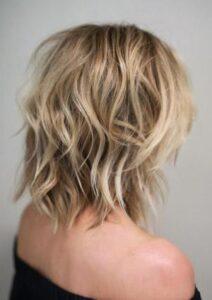sarı saçta shag saç kesim modeli 2017