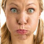 ağız çalkama tarzı yüz yogası egzersizi