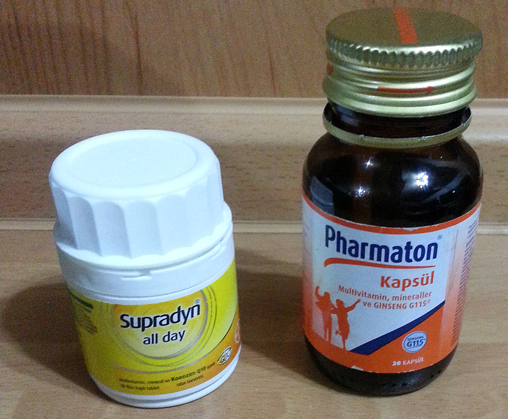 supradyn all day vs. pharmaton