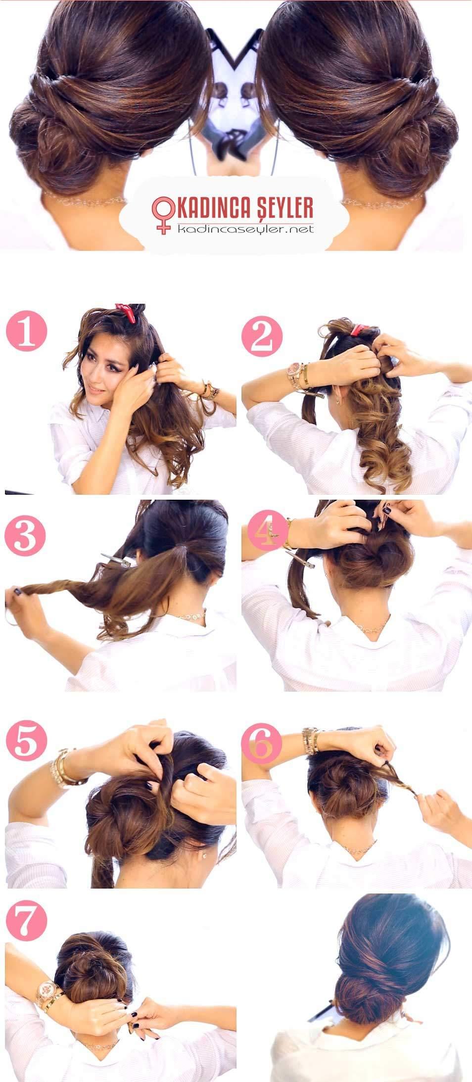 pratik dağınık topuz saç yapımı