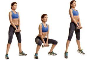 sumo squat hareketi ile kalça kaldırma