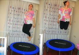 trambolinde zıplayarak kalori yakın ve zayıflayın